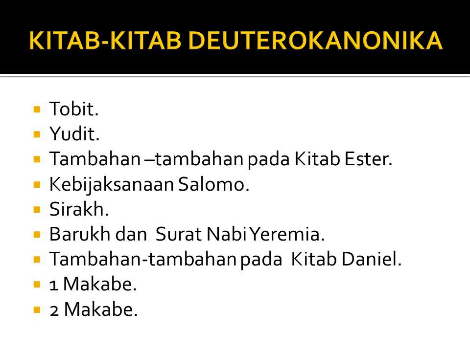 KITAB-KITAB DEUTEROKANONIKA