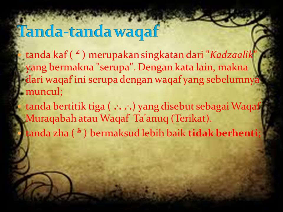 Tanda-tanda waqaf