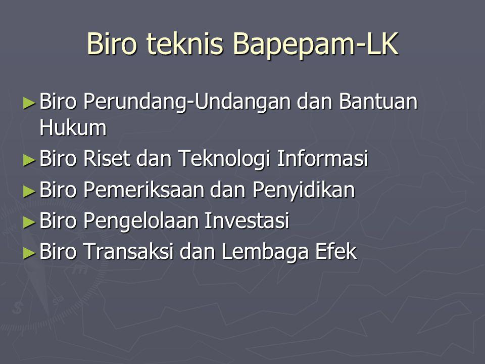 Biro teknis Bapepam-LK