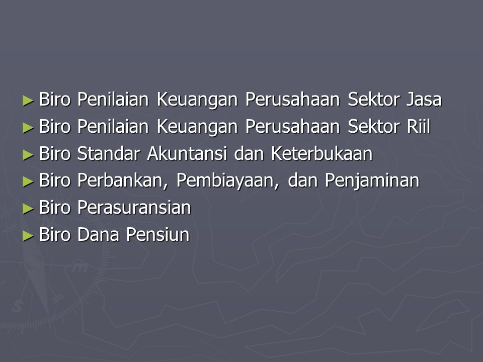 Biro Penilaian Keuangan Perusahaan Sektor Jasa