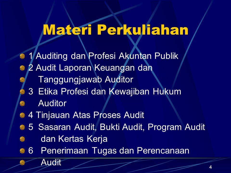 Materi Perkuliahan 1 Auditing dan Profesi Akuntan Publik