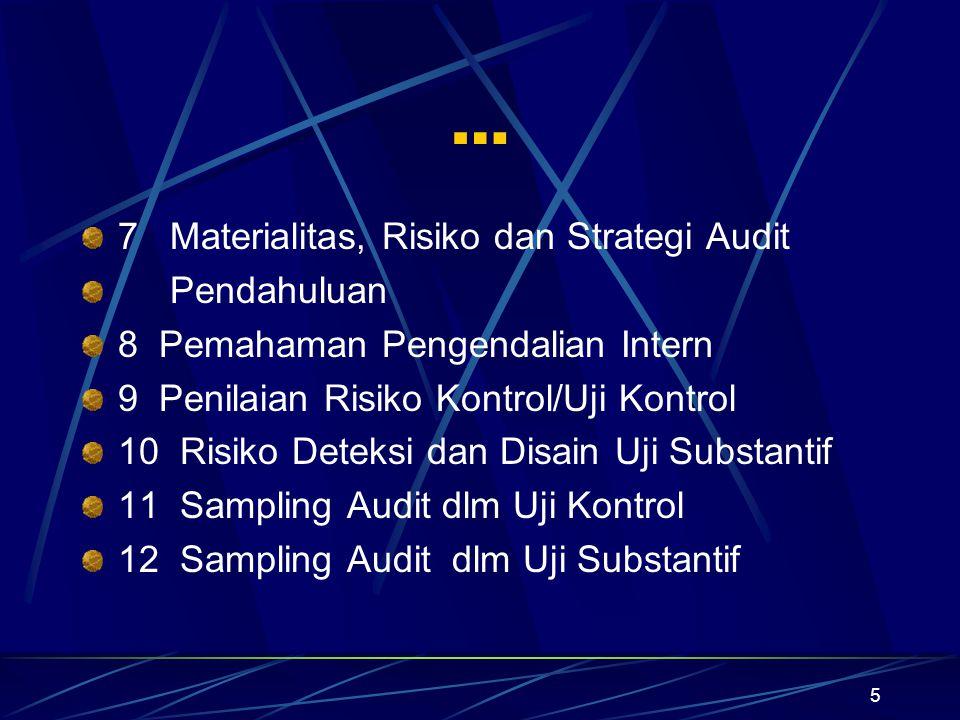 … 7 Materialitas, Risiko dan Strategi Audit Pendahuluan