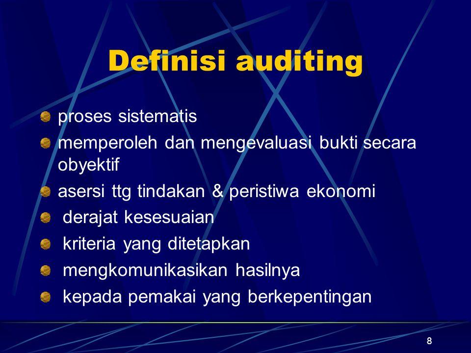 Definisi auditing proses sistematis