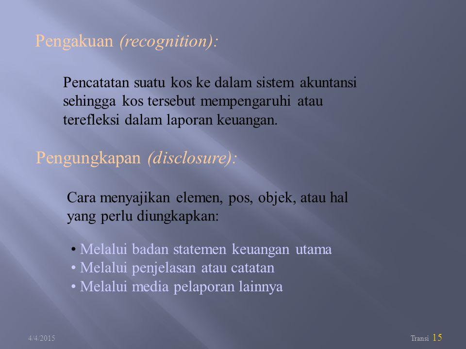 Pengakuan (recognition):
