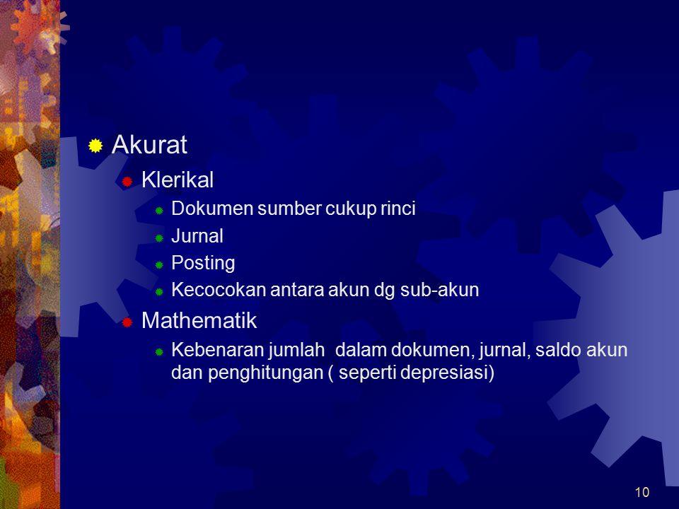 Akurat Klerikal Mathematik Dokumen sumber cukup rinci Jurnal Posting