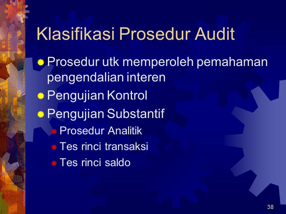 Klasifikasi Prosedur Audit