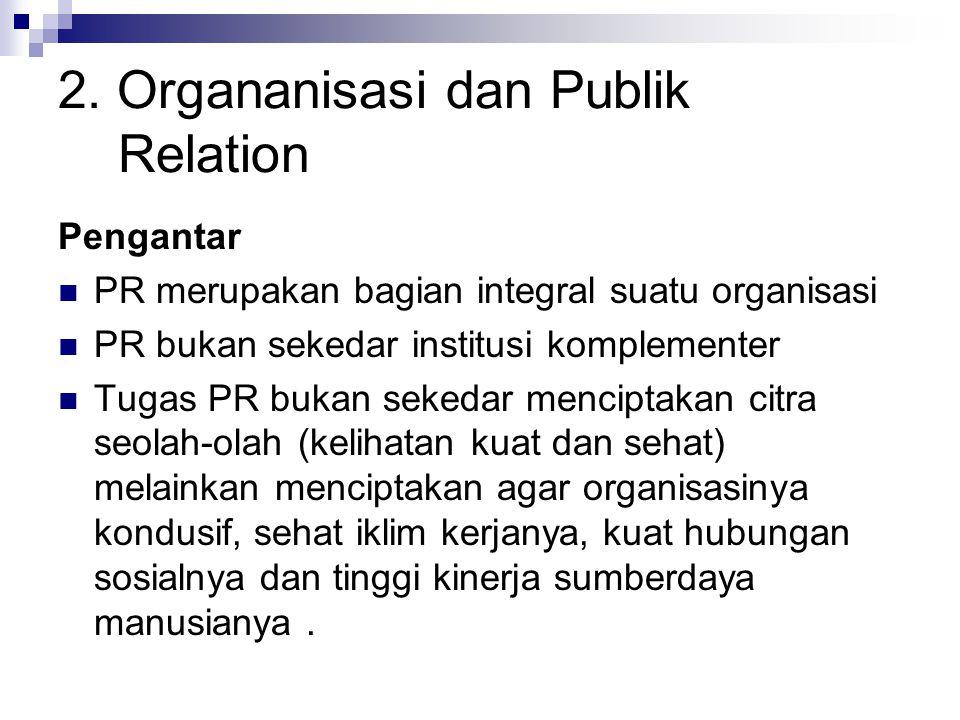 2. Organanisasi dan Publik Relation