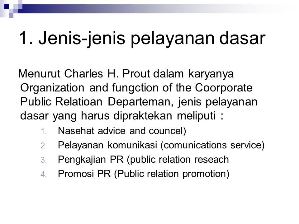 1. Jenis-jenis pelayanan dasar