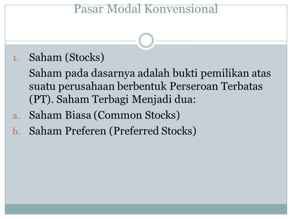 Pasar Modal Konvensional