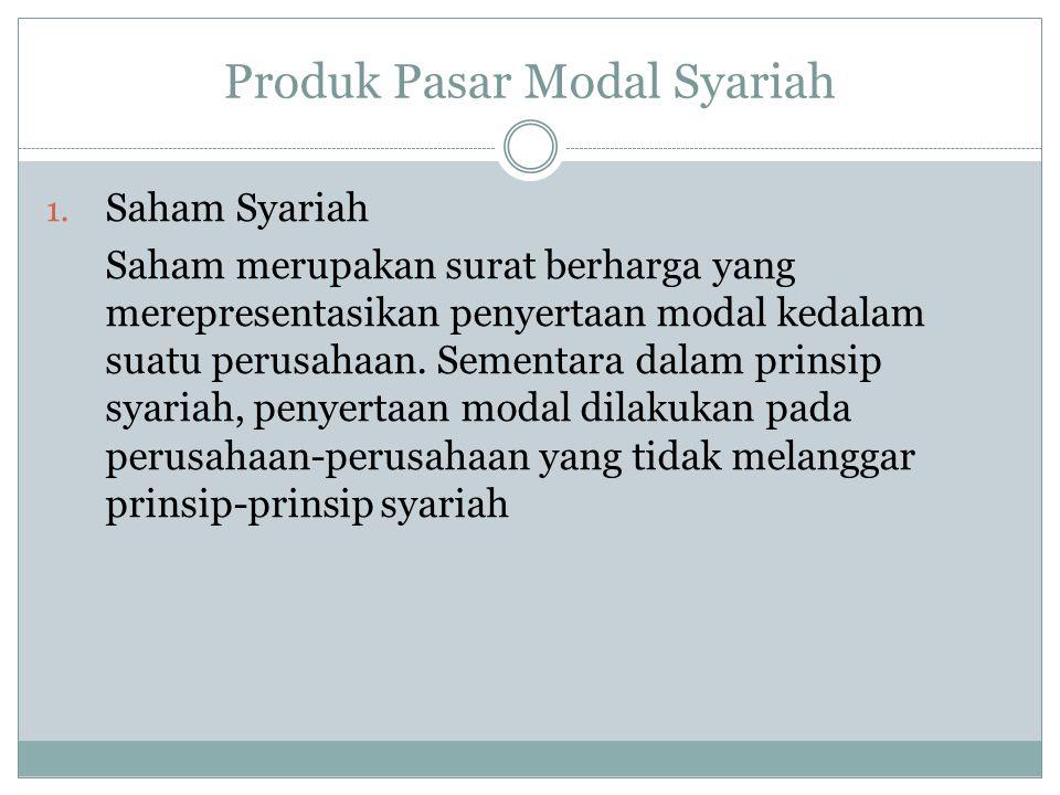 Produk Pasar Modal Syariah