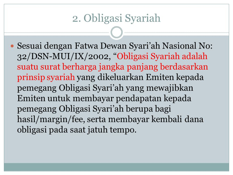 2. Obligasi Syariah