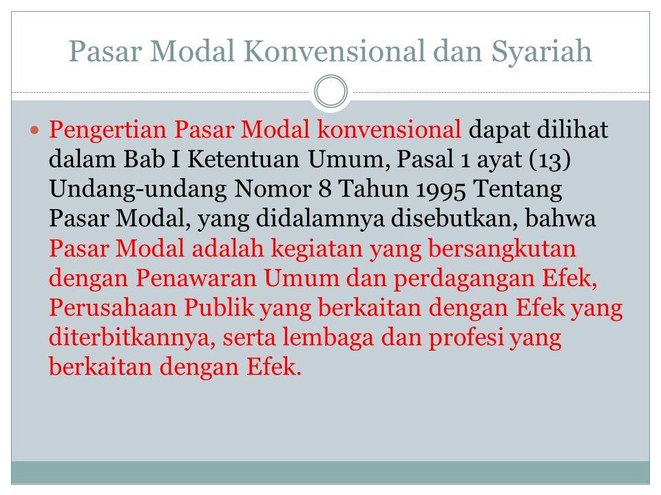 Pasar Modal Konvensional dan Syariah