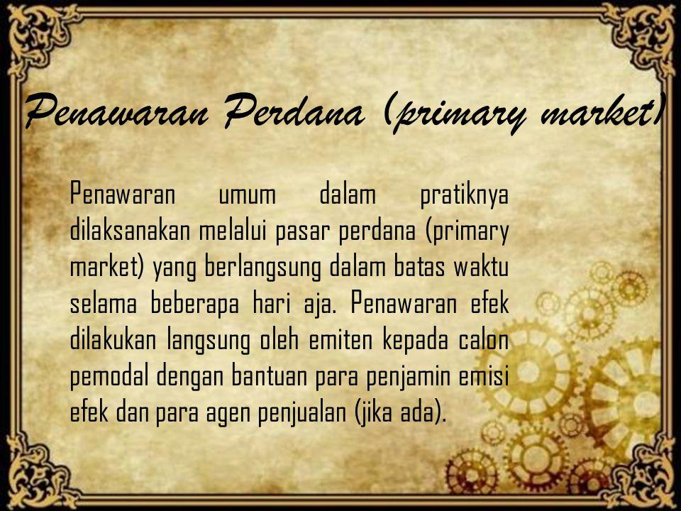 Penawaran Perdana (primary market)