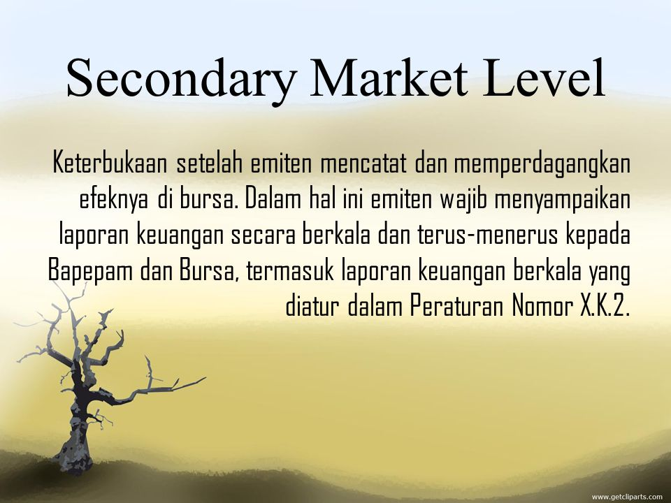 Secondary Market Level