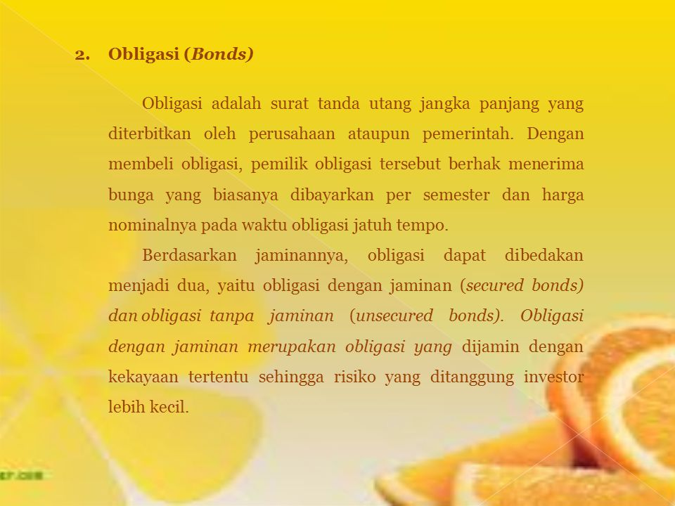 2. Obligasi (Bonds)