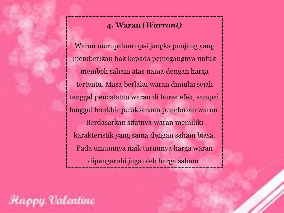 4. Waran (Warrant)
