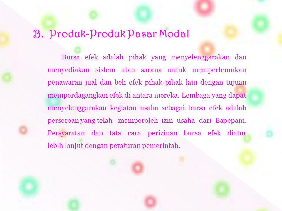 Produk-Produk Pasar Modal