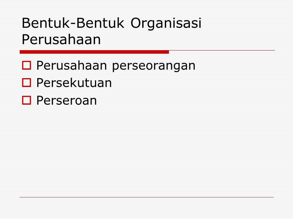 Bentuk-Bentuk Organisasi Perusahaan