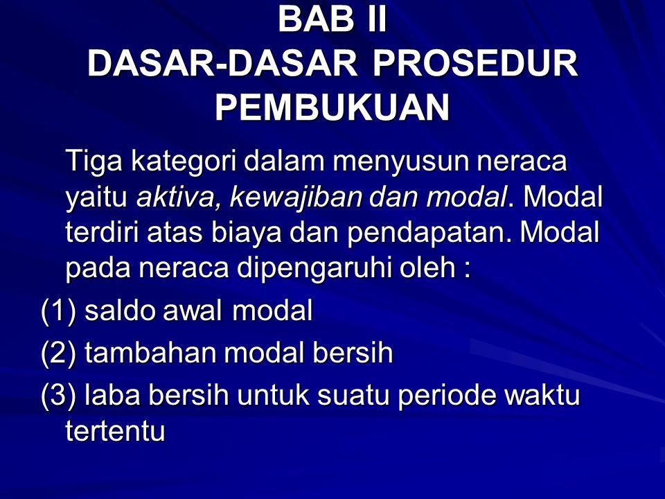 BAB II DASAR-DASAR PROSEDUR PEMBUKUAN