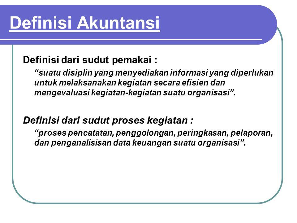 Definisi Akuntansi Definisi dari sudut pemakai :