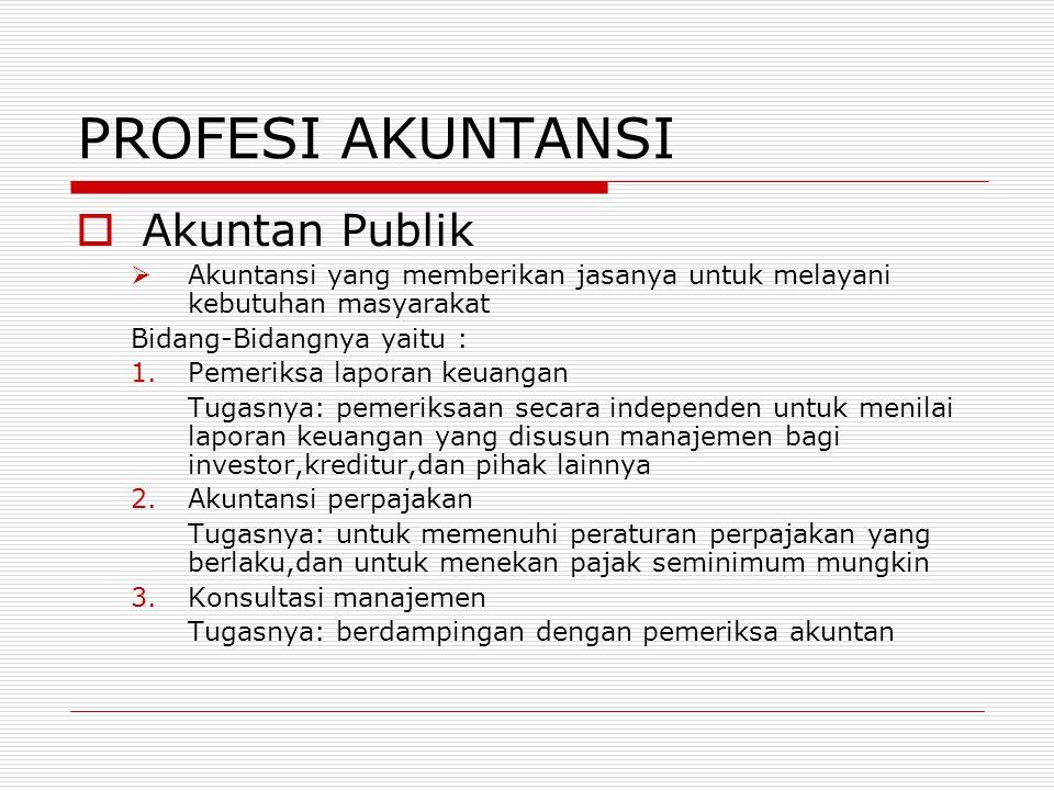 PROFESI AKUNTANSI Akuntan Publik