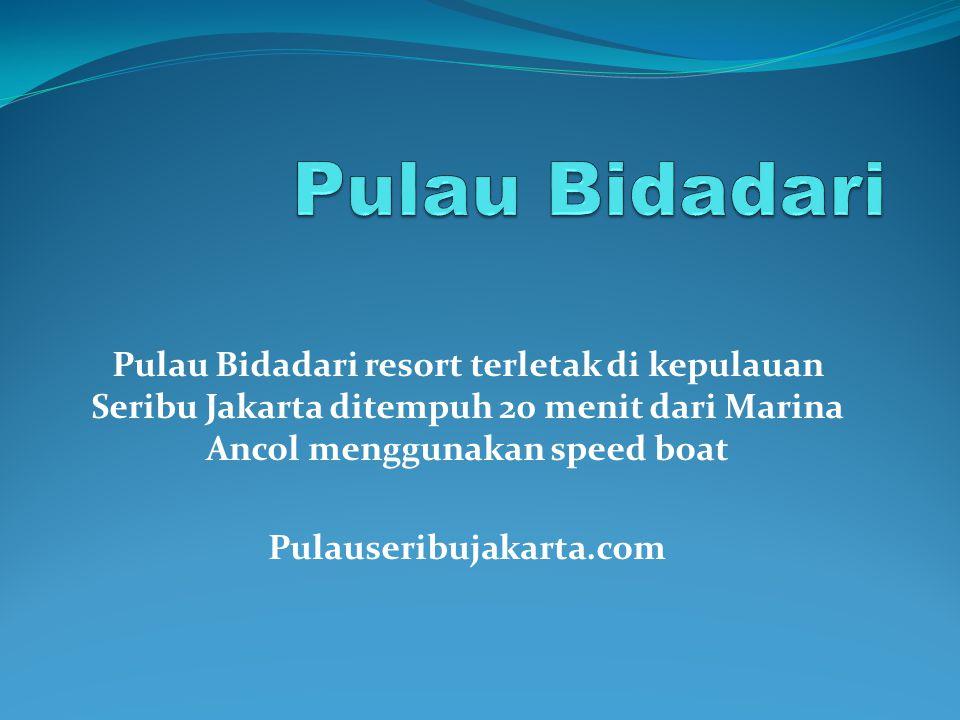 Pulau Bidadari Pulau Bidadari resort terletak di kepulauan Seribu Jakarta ditempuh 20 menit dari Marina Ancol menggunakan speed boat.