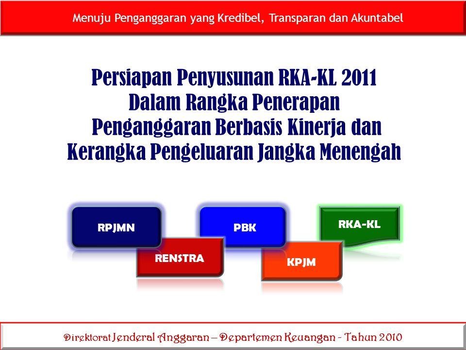 Direktorat Jenderal Anggaran – Departemen Keuangan - Tahun 2010