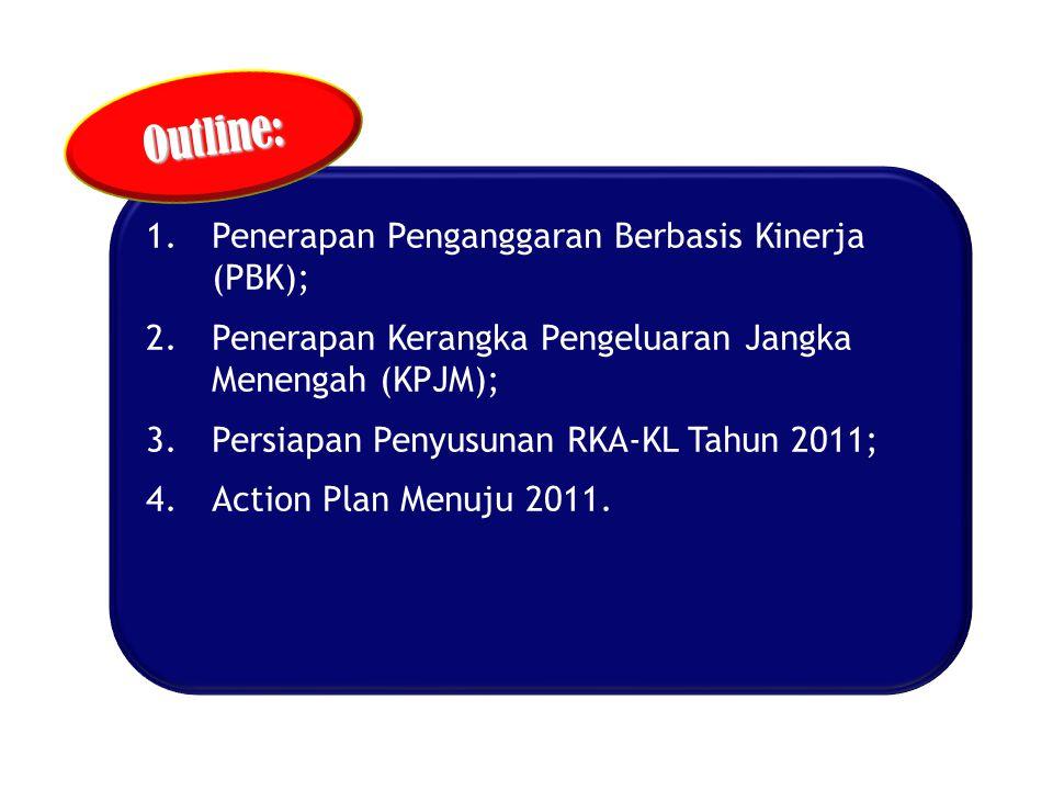Outline: Penerapan Penganggaran Berbasis Kinerja (PBK);