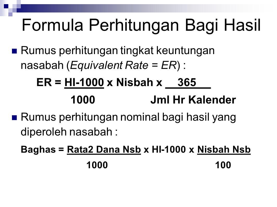 Formula Perhitungan Bagi Hasil