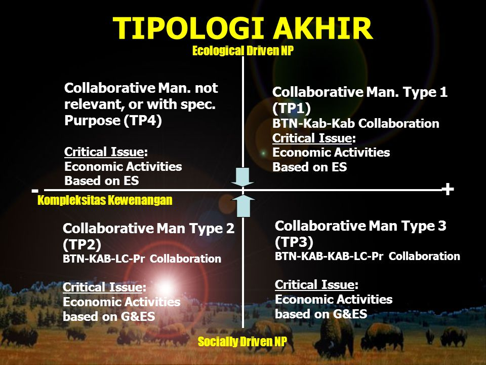 TIPOLOGI AKHIR - + Collaborative Man. not Collaborative Man. Type 1