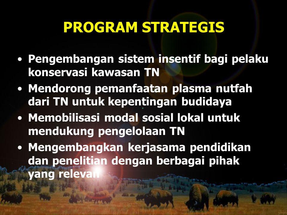PROGRAM STRATEGIS Pengembangan sistem insentif bagi pelaku konservasi kawasan TN.