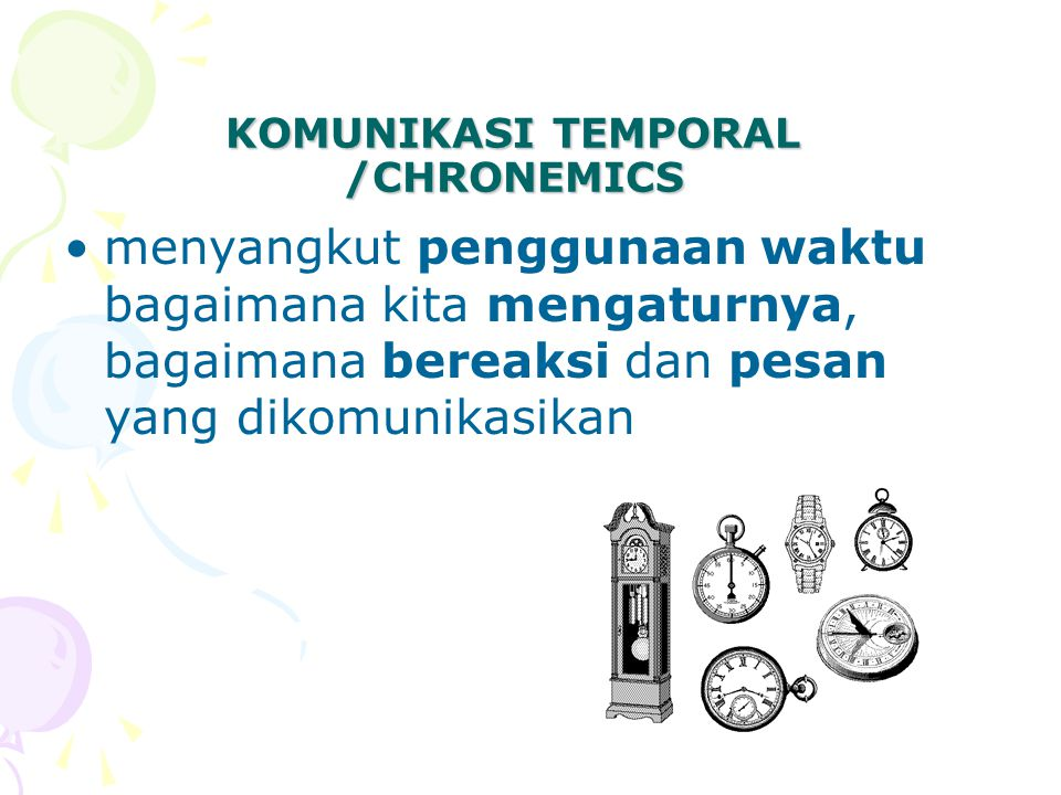 KOMUNIKASI TEMPORAL /CHRONEMICS