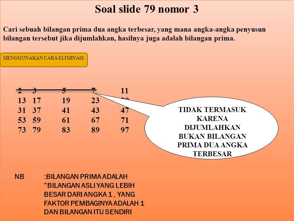 Soal slide 79 nomor 3