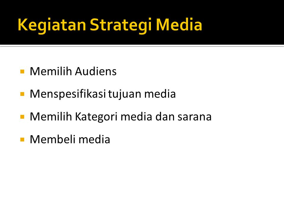 Kegiatan Strategi Media