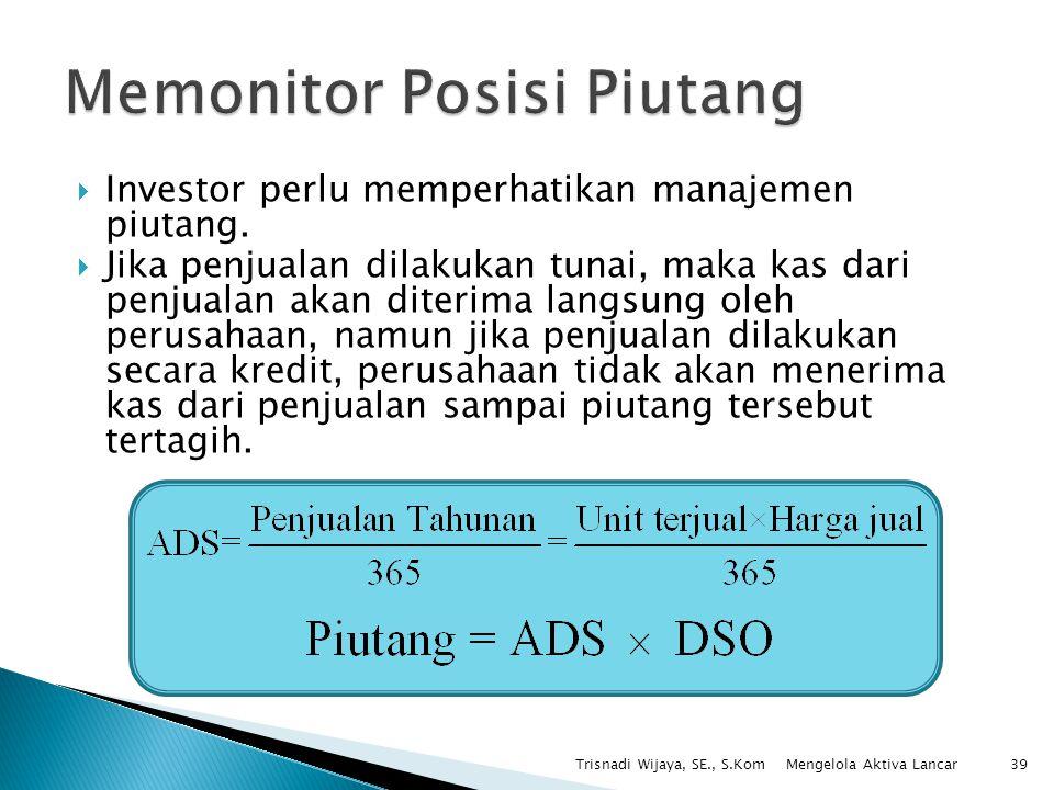 Memonitor Posisi Piutang