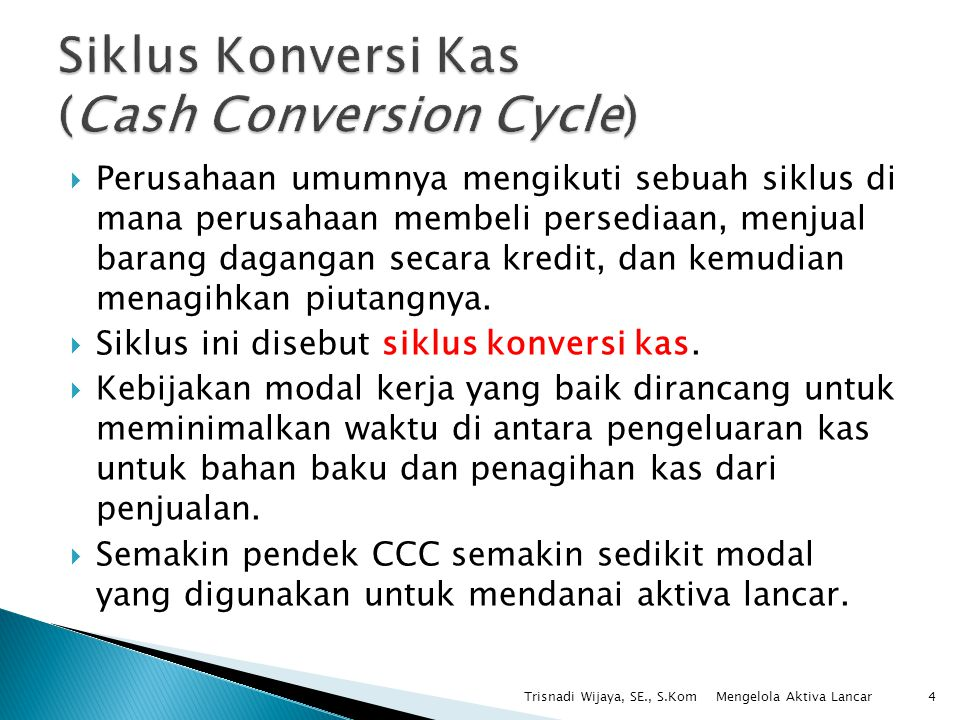 Siklus Konversi Kas (Cash Conversion Cycle)