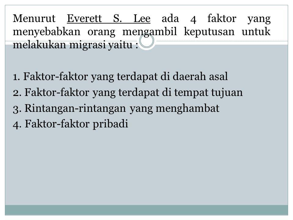Menurut Everett S.