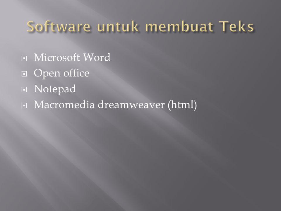 Software untuk membuat Teks