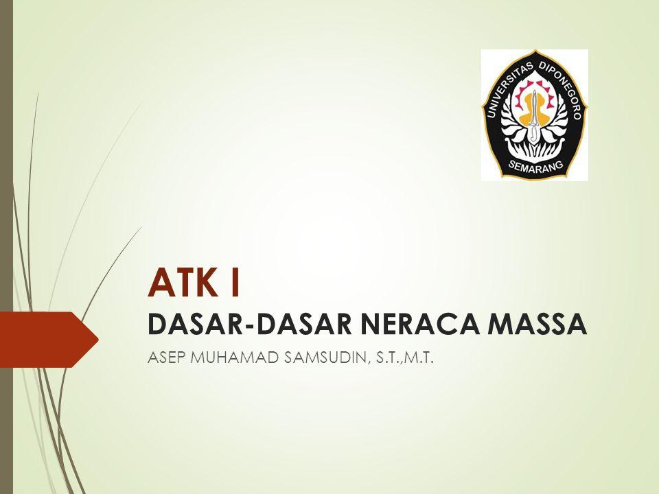ATK I DASAR-DASAR NERACA MASSA