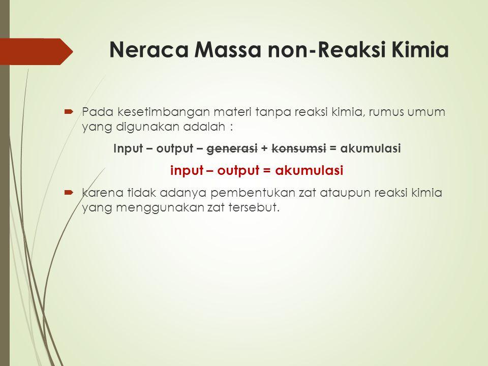Neraca Massa non-Reaksi Kimia