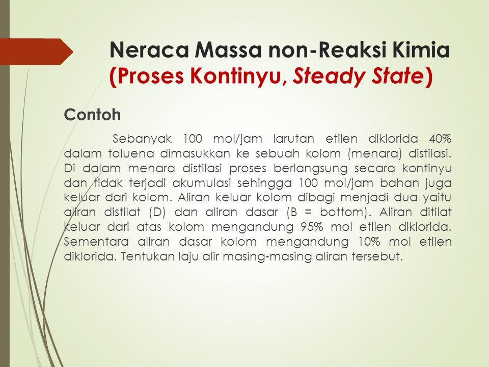 Neraca Massa non-Reaksi Kimia (Proses Kontinyu, Steady State)