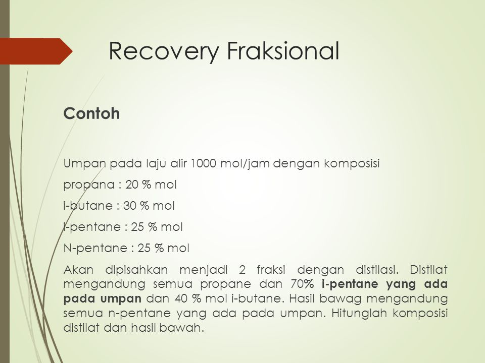 Recovery Fraksional Contoh