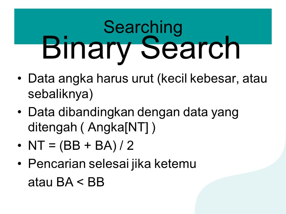 Binary Search Searching