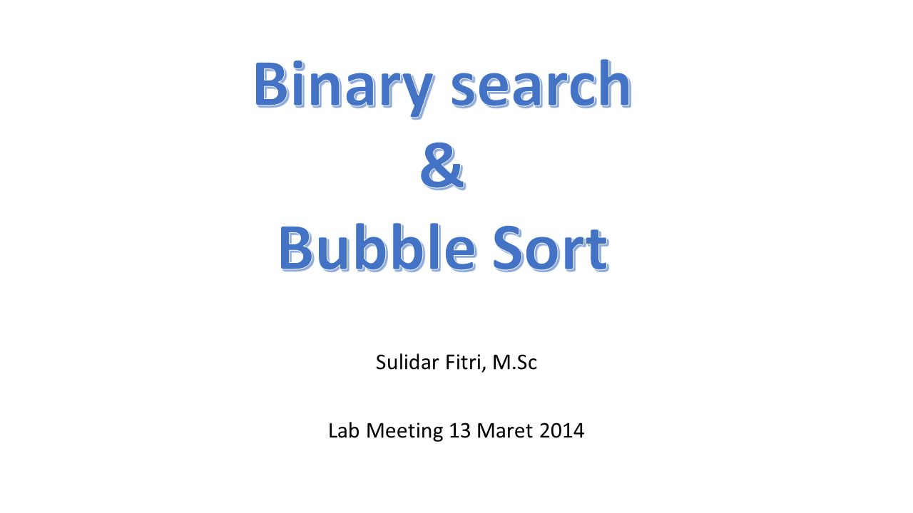 Sulidar Fitri, M.Sc Lab Meeting 13 Maret 2014