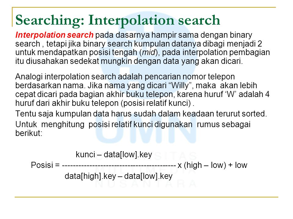 Searching: Interpolation search