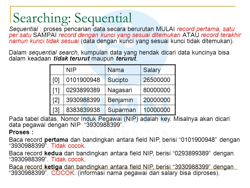 Searching: Sequential
