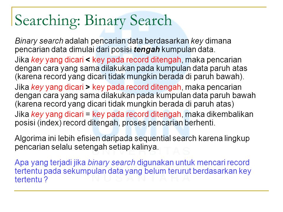 Searching: Binary Search