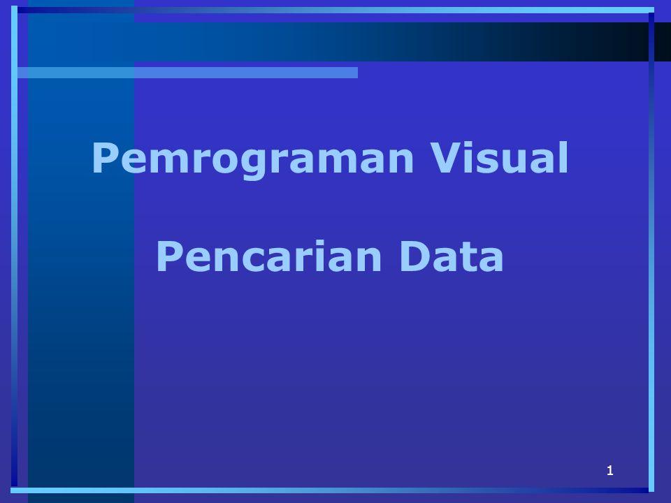 Pemrograman Visual Pencarian Data