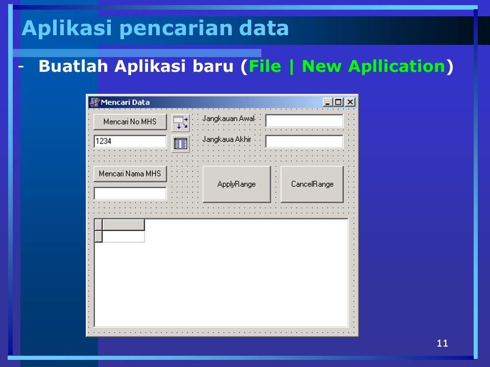Aplikasi pencarian data