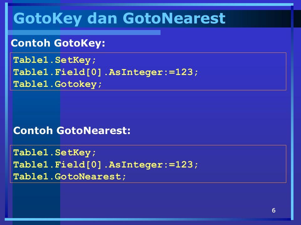 GotoKey dan GotoNearest